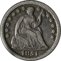 1851-P SEATED LIBERTY HALF DIME GREAT DEALS FROM THE EXECUTIVE COIN COMPANY