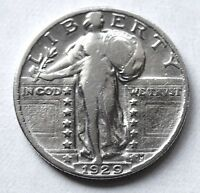 1929  STANDING LIBERTY QUARTER EF 90 SILVER COLLECTIBLE GIFT IDEA 1916-30 W