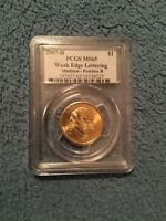 2007-D MADISON DOLLAR COIN WEAK EDGE LETTERS PCGS MINT STATE 65 POSITION B