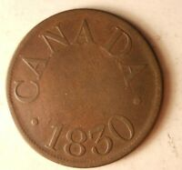 1830 UPPER CANADA PROVINCE 1/2 PENNY    DATE/TYPE COIN   LOT