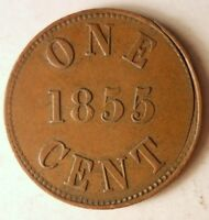 1855 PRINCE EDWARD ISLAND  CANADA  CENT   FISHERIES   GREAT