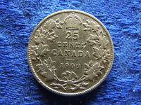 CANADA 25 CENTS 1909 KM11