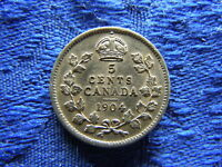CANADA 5 CENTS 1904 KM13