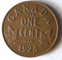 1925 CANADA CENT   KEY DATE   HIGH VALUE HARD TO FIND COIN