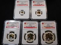 E60 CANADA 2014 SILVER GILT MAPLE LEAF REVERSE PROOF SET NGC