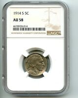 1914 S  BUFFALO NICKEL  AU 58  NGC CLOSE TO UNCIRCULATED