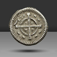 HUNGARY. ANONYMOUS SILVER DENAR. ATTRIBUTED TO BELA II AD 11