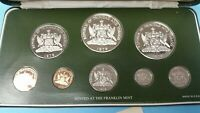 1978 TRINIDAD AND TOBAGO PROOF COIN SET STERLING SILVER WITH