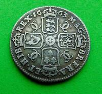 WONDERFUL  CHARLES  II   1663   FULL  SILVER  SHILLINGS  1/