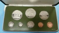1975 TRINIDAD AND TOBAGO EIGHT COIN PROOF SET STERLING SILVE