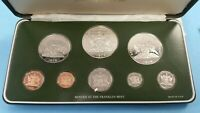 1979 TRINIDAD AND TOBAGO EIGHT COIN STERLING SILVER PROOF SE