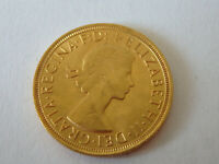 QUEEN ELIZABETH II 1958 GOLD SOVEREIGN