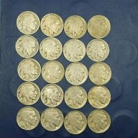 5 EACH  FULL DATE  BUFFALO NICKELS FROM THE  20S AND 30S 5 COINS