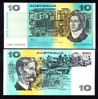 AUSTRALIA $10 10 DOLLARS FRASER COLE 1991 WITHOUT PLATE NUMBER R. 313B UNC NOTE