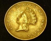 1855 $1 INDIAN HEAD GOLD COIN INDIAN LIBERTY ONE DOLLAR