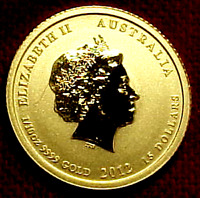 2012 AUSTRALIA 1/10OZ GOLD PROOF YR. OF THE DRAGON .MIN. BID