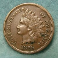 1866 INDIAN HEAD PENNY CHOICE VF  DETAILS   US COIN