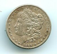 1889 CC SILVER MORGAN DOLLAR AU    LY     READ   LOOK