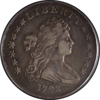 1798 BUST DOLLAR LARGE EAGLE PCGS EXTRA FINE 40 GREAT EYE APPEAL  STRIKE