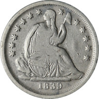 1839-O SEATED LIBERTY HALF DIME GREAT DEALS FROM THE EXECUTIVE COIN COMPANY