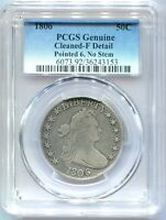 1806 DRAPED BUST HALF DOLLAR PCGS GENUINE FINE