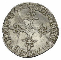 FRANCE. CHARLES IX SILVER SOL 1565 POITIERS DY 1083
