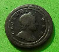 A  DECENT  EARLY  GEORGE  I    1719     FARTHING  1/4D  ..LU