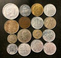 TINY EUROPEAN NATION COIN LOT   1901 PRESENT   16 SCARCE COI