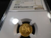 L10 MEXICO 1902 MO GOLD PESO LARGE DATE NGC MS 63