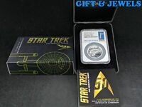 2016 TUVALU NGC PF70 ULTRA CAMEO STAR TREK HIGH RELIEF 1OZT