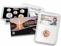 2019 US SILVER PROOF COIN SET &W LINCOLN CENT NGC GEM REVERSE PROOF FR SKU57891