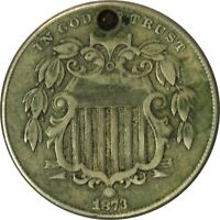 1873 SHIELD NICKEL VF/EXTRA FINE  DETAILS HOLED  EYE APPEAL  - Z - XPE