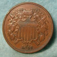 1869 TWO CENT PIECE EXTRA FINE   US COIN 3483