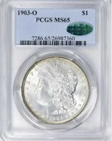 1903-O MORGAN PCGS MINT STATE 65 CAC REALLY  FOR THE GRADE