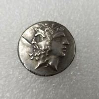 SILVER PLATED  GREEK COIN COPPER COIN ANCIENT COIN FOR COLLECTION