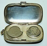 GERMAN SILVER COIN HOLDER PENDANT US COIN 1892 BARBER DIME 1902 LIBERTY V NICKEL