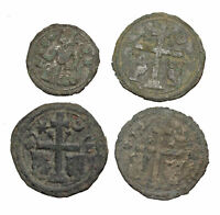 LOT OF 4 BETTER MEDIEVAL COINS FROM HUNGARY AND SLAVONIA  DE