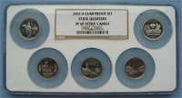 2003-S PROOF CLAD STATE QUARTERS 5-COIN SET - NGC PF 69 ULTRA CAMEO PR69 25C