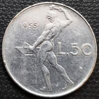 1955 ITALY 50 LIRE COIN - GREAT CONDITION - FREE COMBINED SHIPPING