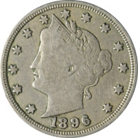 1896 LIBERTY V NICKEL GREAT DEALS FROM THE EXECUTIVE COIN COMPANY