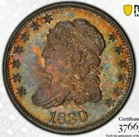 1830 H10C CAPPED BUST HALF DIME PCGS MINT STATE 64