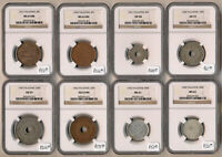 1927 1942  8 PALESTINE NGC AU53 TO MS63 BEAUTIES  CAT VALUE