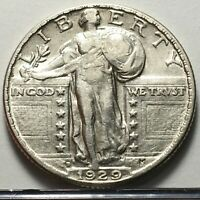 1929 D STANDING LIBERTY SILVER QUARTER U.S. COIN  SHIPS FREE