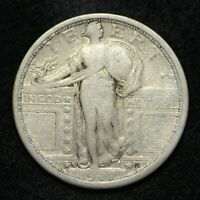 1917-S T-1 STANDING LIBERTY SILVER QUARTER FINE CLEANED CN6494