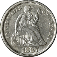 1887-P SEATED LIBERTY DIME GREAT DEALS FROM THE EXECUTIVE COIN COMPANY
