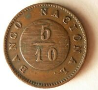 1827 ARGENTINA  BUENOS AIRES  5/10 REAL   AU   HUGE VALUE CO