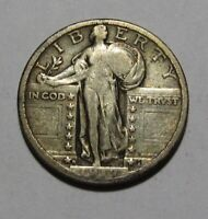 1917 D TYPE 2 STANDING LIBERTY QUARTER   VERY FINE CONDITION