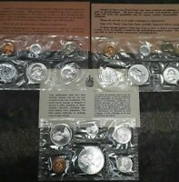 A LOT OF 3 1961 1963 UNC PA US MINT PROOF SET AND 1965 6 COI