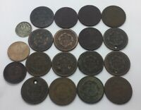 UNITED STATES 1800S 1 CENT   LOW GRADE LOT  19 PIECES