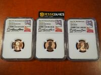 3 COIN SET: 2019 W LINCOLN CENT NGC GEM PROOF GEM REVERSE GEM UNC LYNDALL BASS